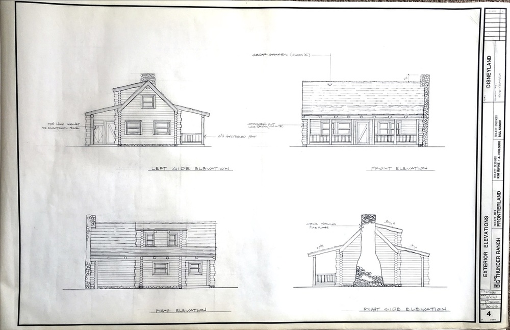 Rocky Mountain Ranch Cabin Elevations