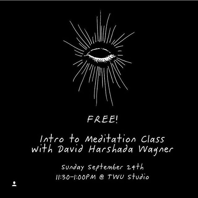 If you are near Alberta st, come on down to @the_wild_unknown this morning to sit with one of my favorite teachers @davidhwagner