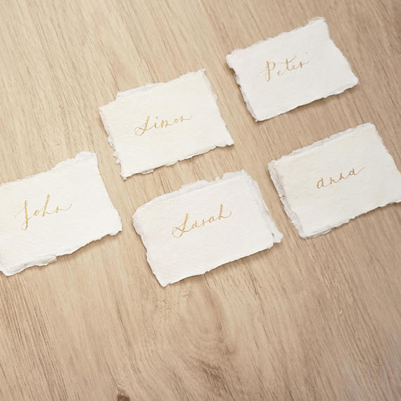 Click to view    gold script place cards    VISIT LINK