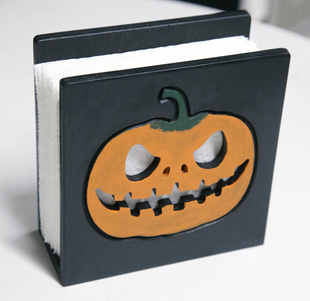 build the halloween napkin holder kronos robotics