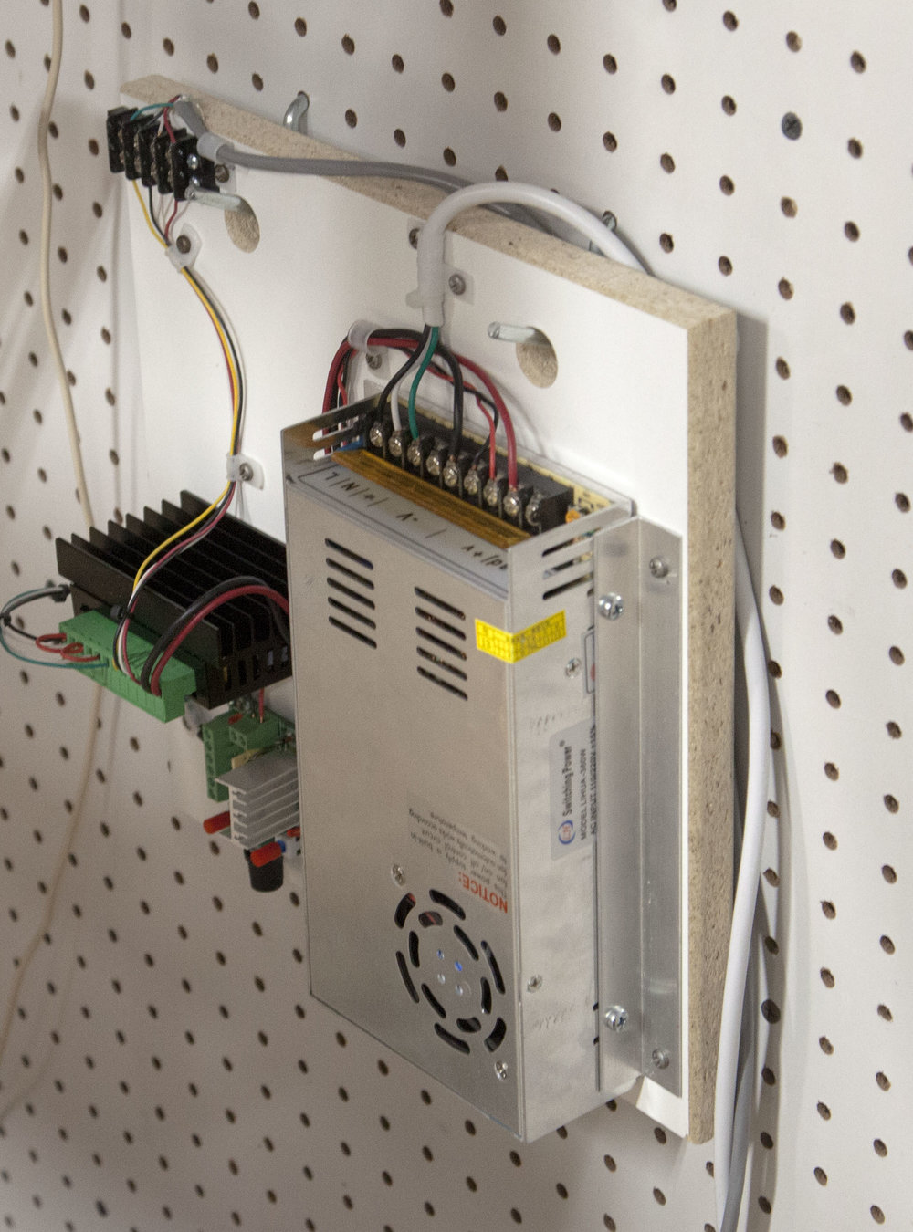 Building A Stepper Motor Tester Kronos Robotics Generator Project Here Is The Hanging On Pegboard Wall