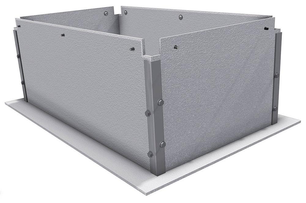 Downdraft assembly corners installed.jpg