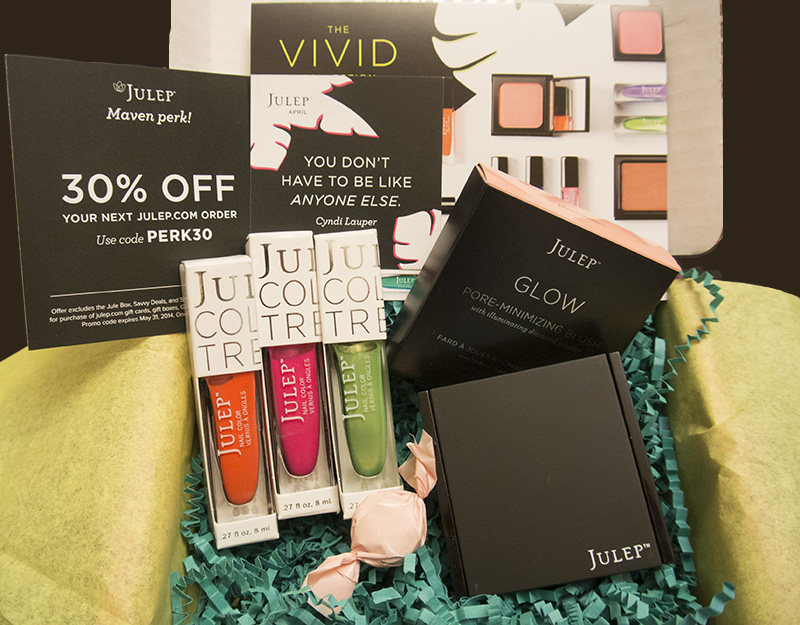 Julep Maven Box, April 2014, Classic with a Twist Vivid Collection