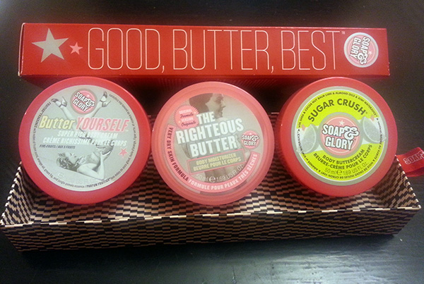 Soap & Glory - Good, Butter, Best include Butter Yourself, The Righteous Butter and Sugar Crush