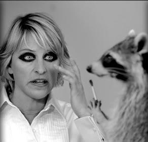 Ellen's new make-up artist has an interesting look...