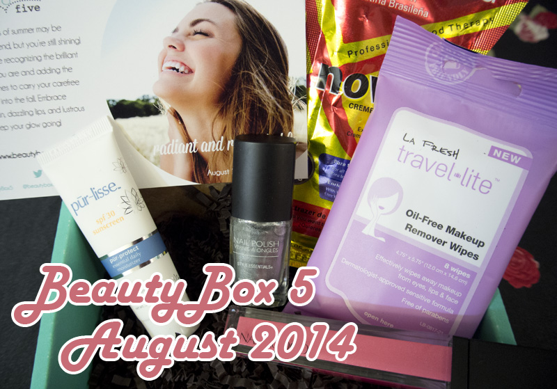 Beauty Box 5, August 2014