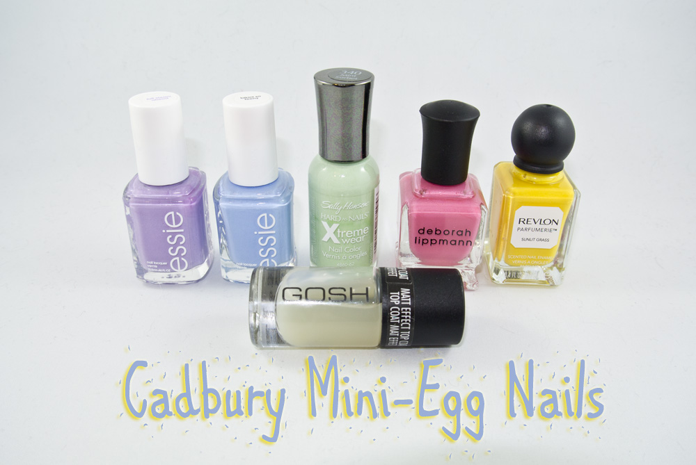 Cadbury Mini-Egg Nails - The polishes