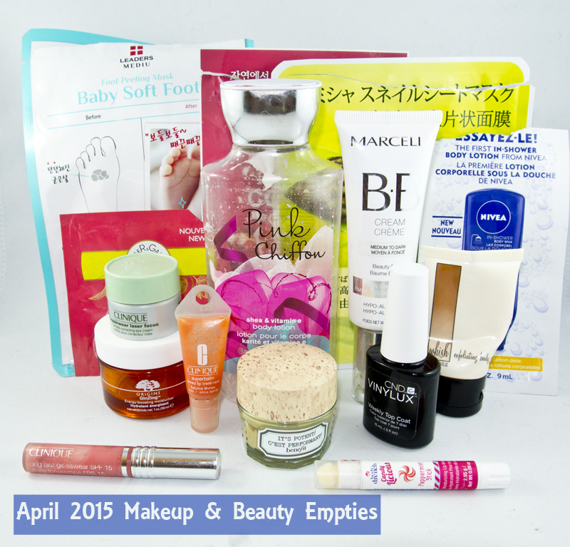 April 2015 Beauty Empties