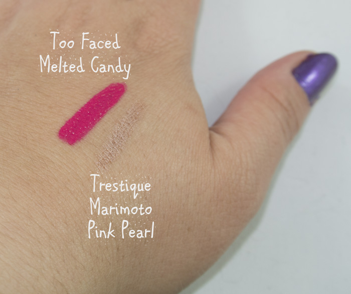 Too Faced Melted Candy & Trestique Marimoto Pink Pearl