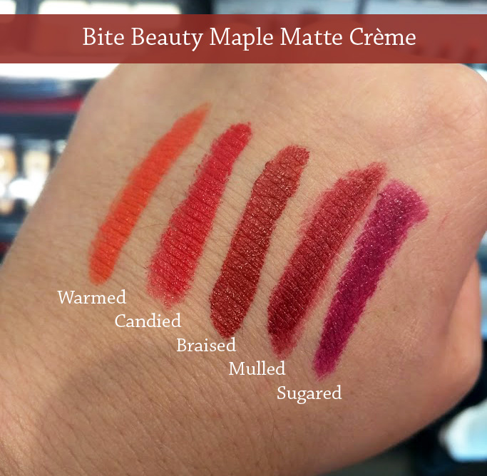 Bite Beauty Maple Matte Creme Swatches