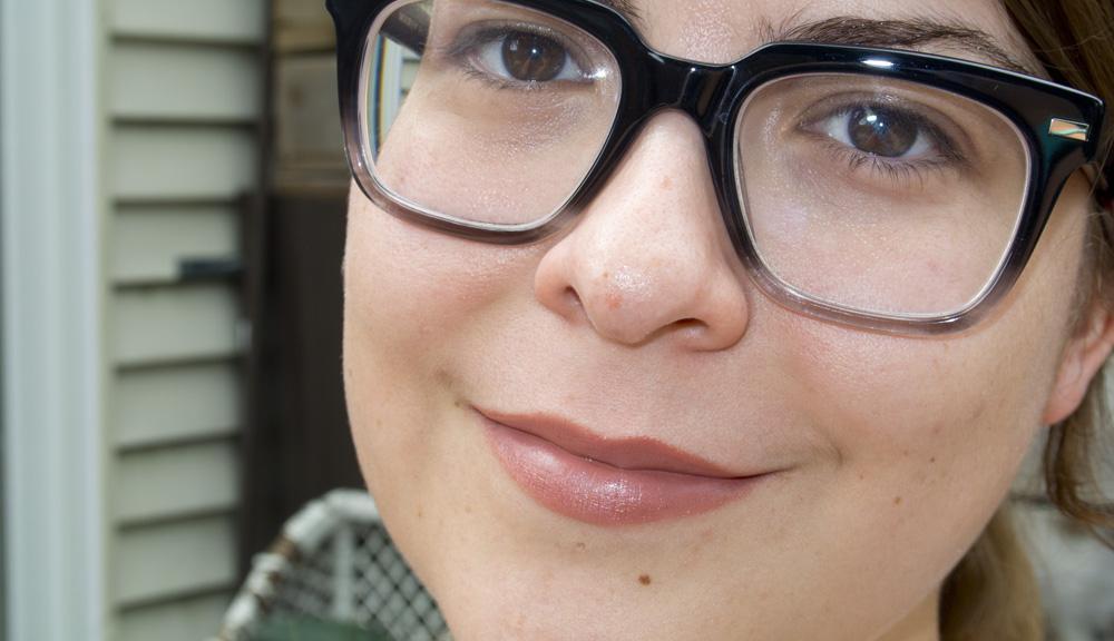 The lipstick full-face shot! #NoMakeUpSelfie too!