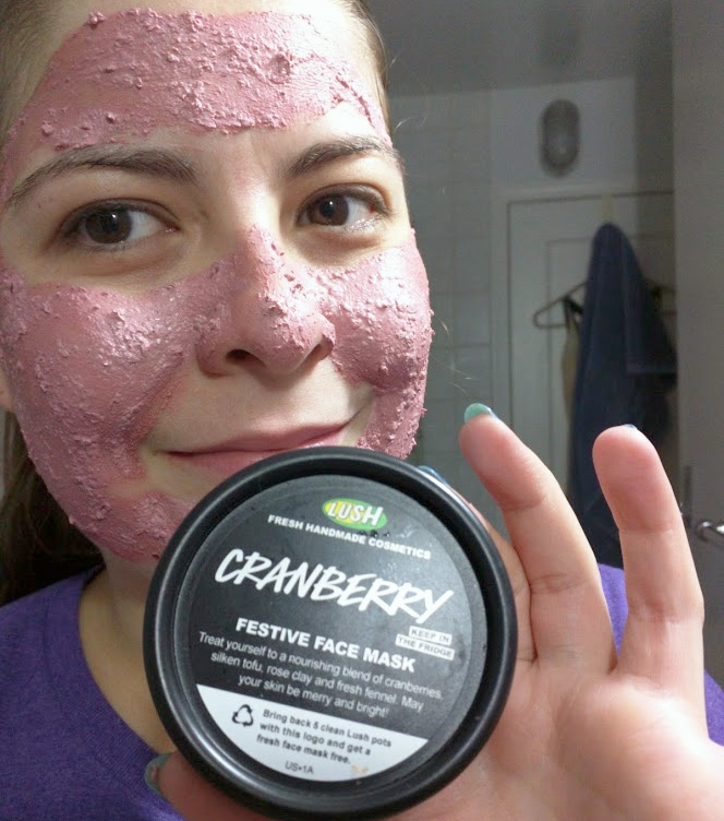 Testing out the Cranberry Festive Face Mask!