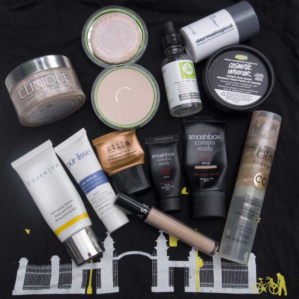 Clinique, Cover Girl, Oz Naturals, Lush Cosmetics, CoverFX, PurLisse, Stila, Sephora, Smashbox and Olay!