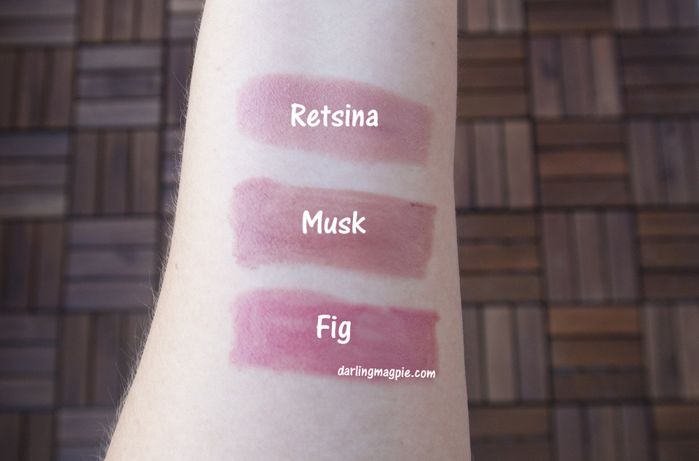 The Nudes ~ Bite Beauty Retsina, Bite Beauty Musk, Bite Beauty Fig