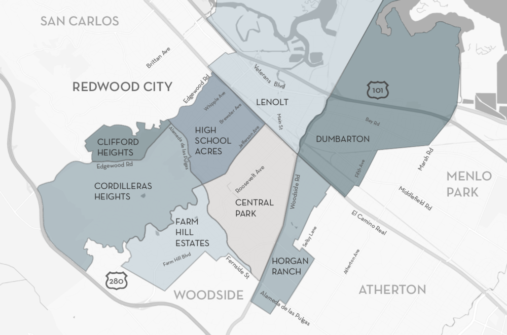 Redwood City Map
