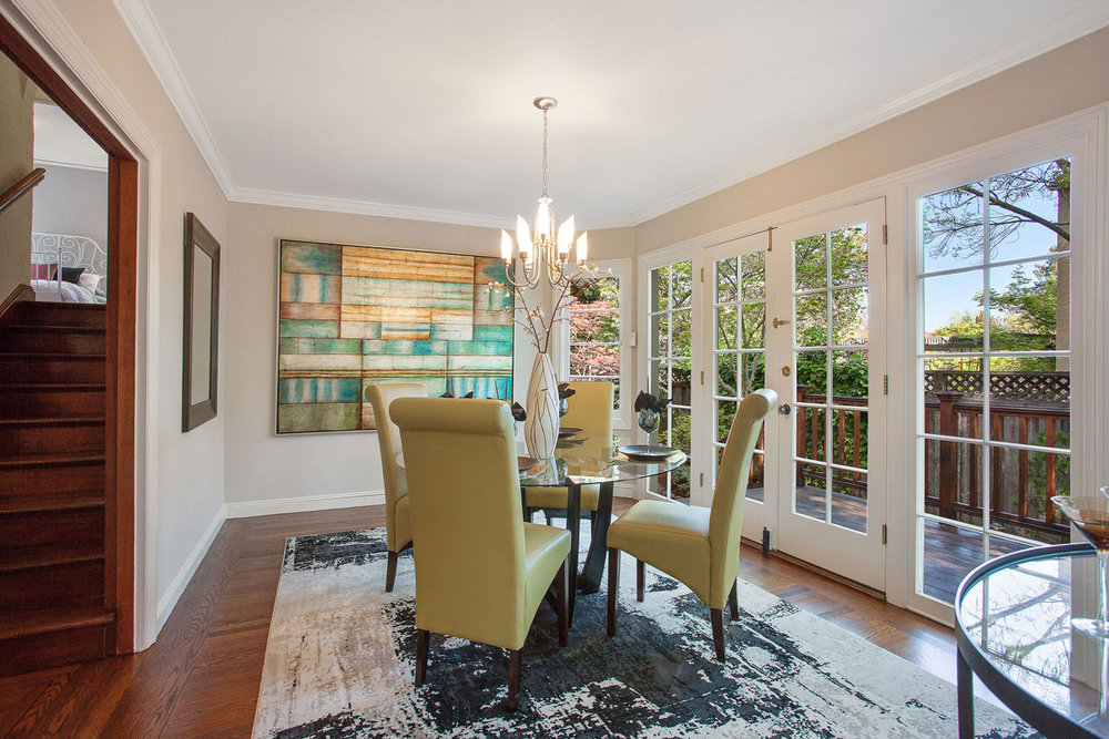 The dining room is my favorite room in the house. I just love all the windows!