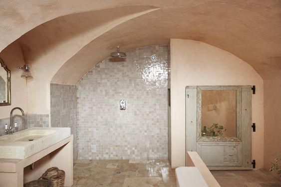 I mean this is a 12th century poet's villa in the South of France, but I love all the natural textures and the mix of gray and warm tones. (  via Remodelista )