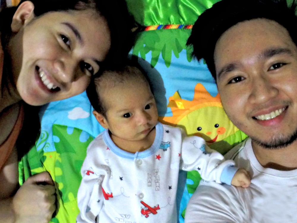 Dan with his wonderful wife and kid:Deanne and Gabe
