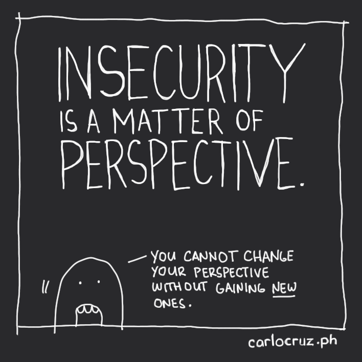 insecurity is a matter of perspective