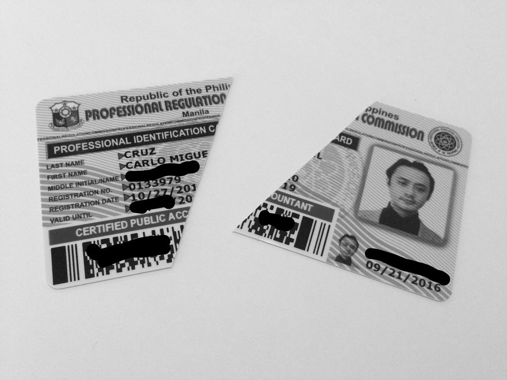 I'm breaking my heart (and my father's) for doing this. After all, I worked hard for this for five-and-a-half years in college and review school. But, if this is what it takes to become whom I want to be. (By the way, I just renewed my license two weeks ago, which makes it even more painful.)