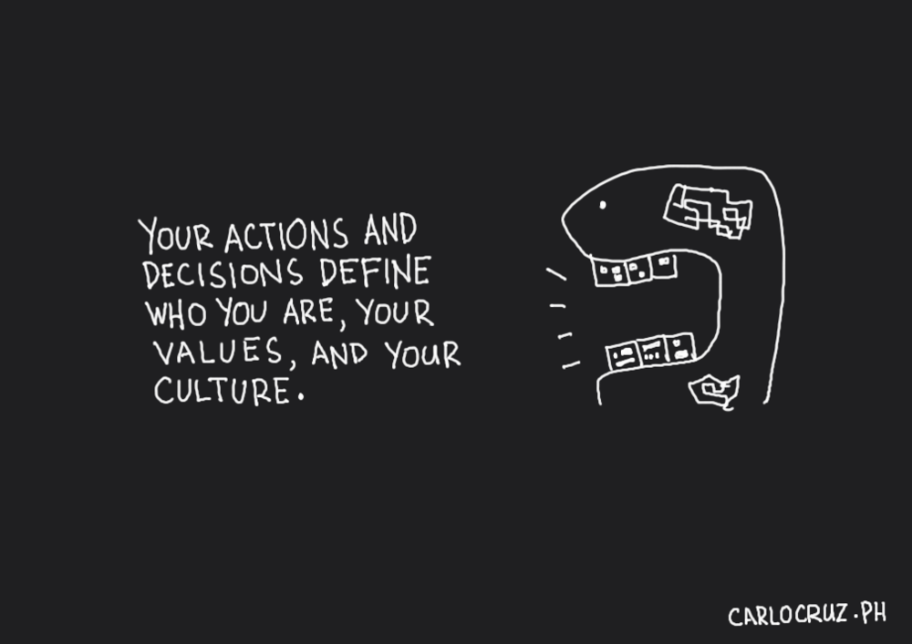 your actions and decisions define who you are your values and your culture