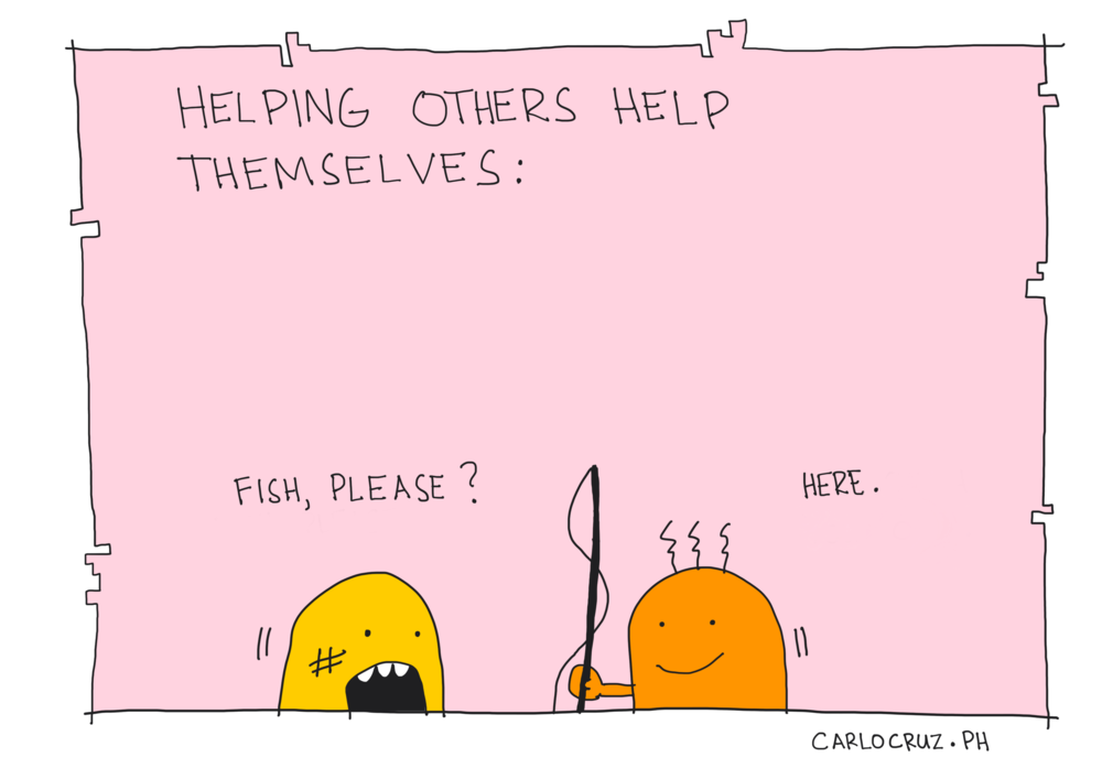 help others help themselves