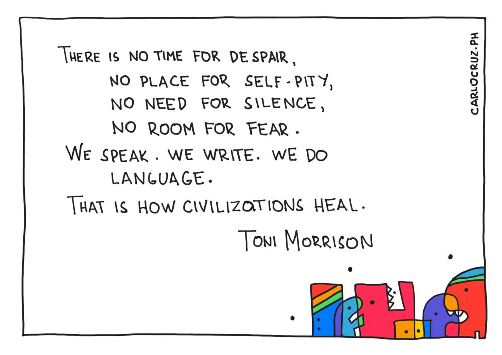no place for self-pity toni morrison
