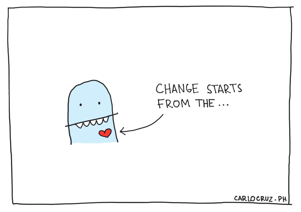 change starts from the heart