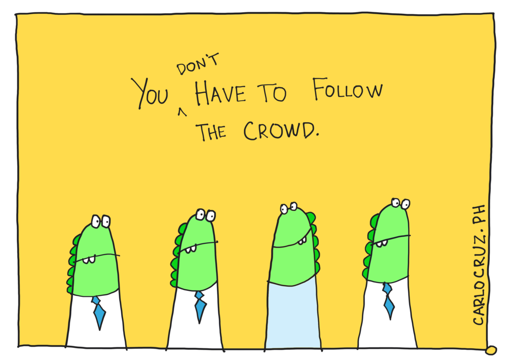 unfollow the crowd