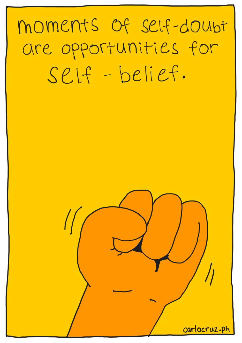 moments of self-doubt