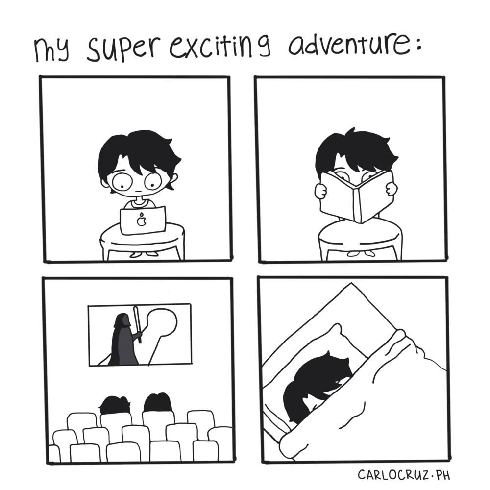 my super exciting adventure