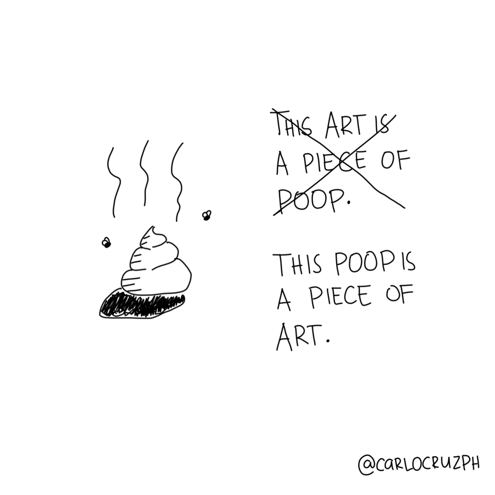 this poop is a piece of art