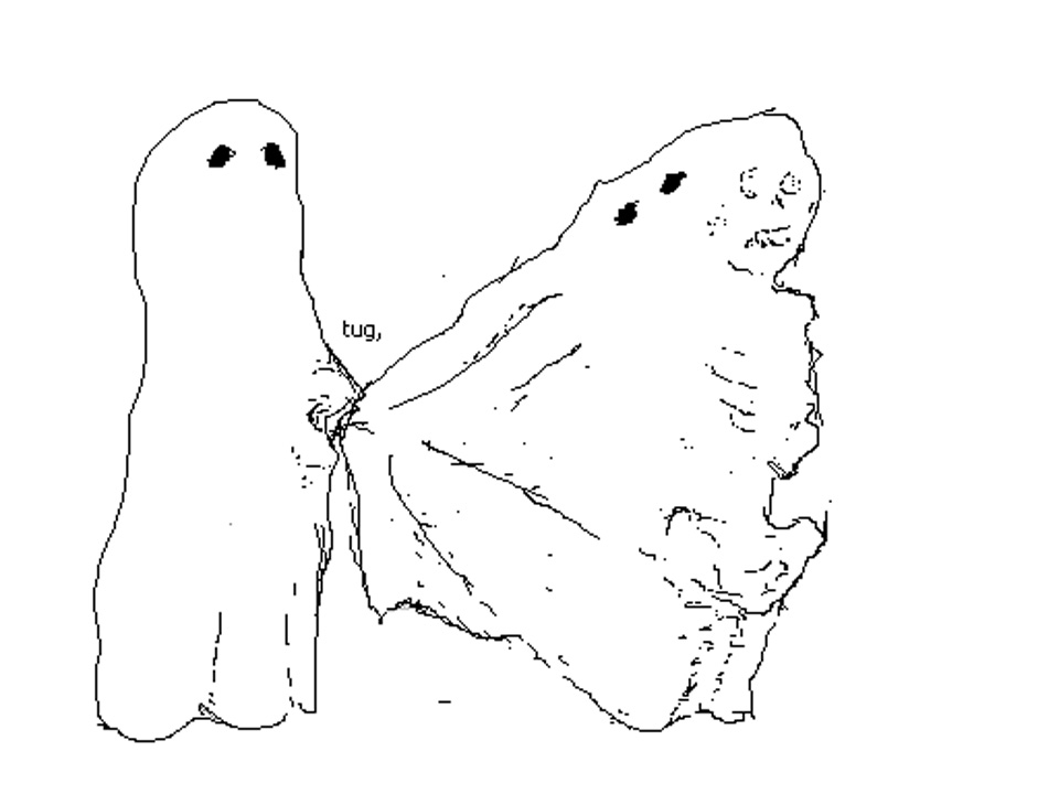 Twin Ghosts, 2003. MSPaint Drawing