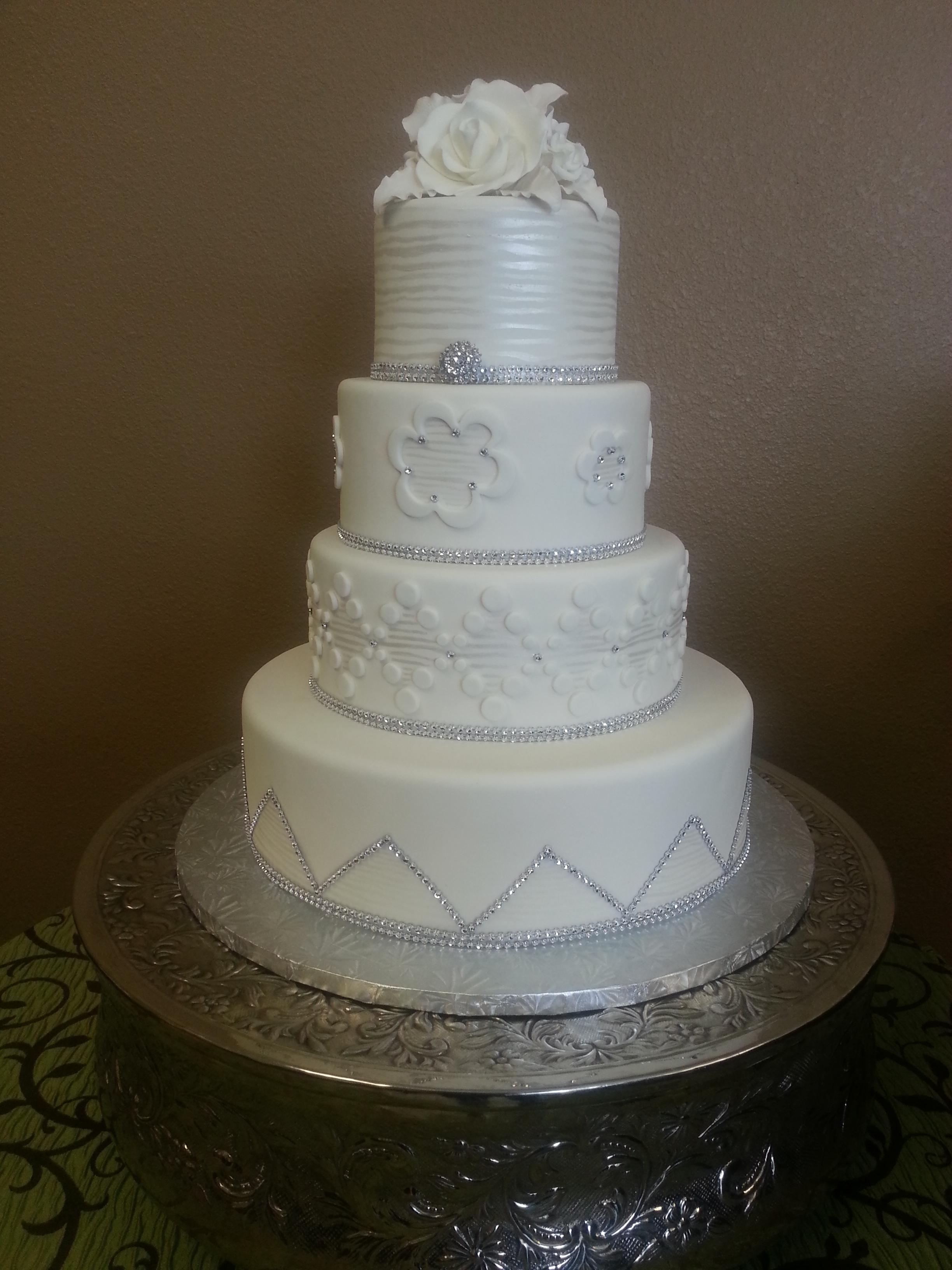 White Diamonds Wedding Cake