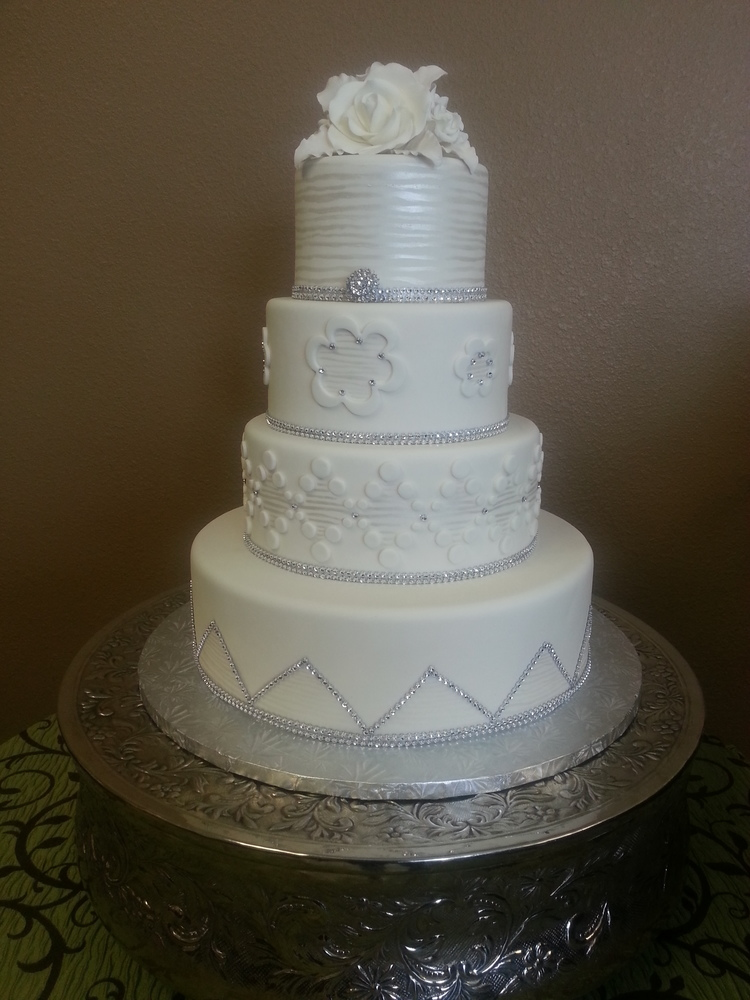 White Diamonds Wedding Cake