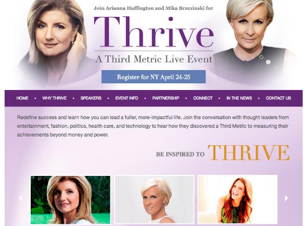 Thrive Huffington Brzezinski