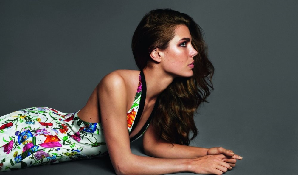 Charlotte Casiraghi is the face of Gucci cosmetics. Photo from sassisamblog.com