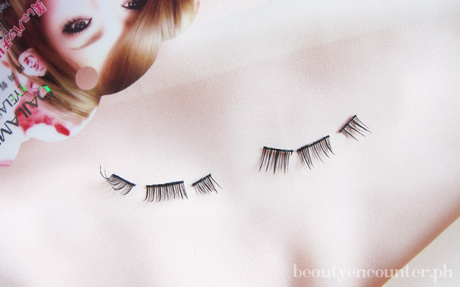 Make applying falsies easier but cutting it up into three pieces.