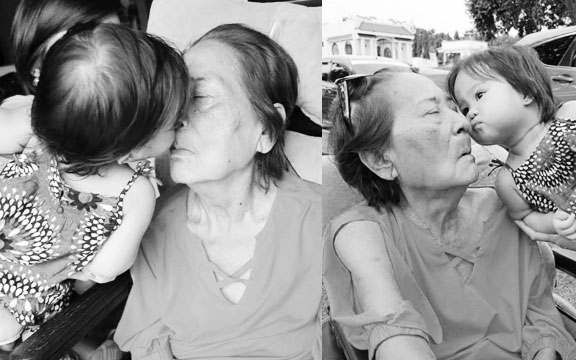 Vera kisses Lola Eng :) I'm happy that Lola Eng recognizes her.