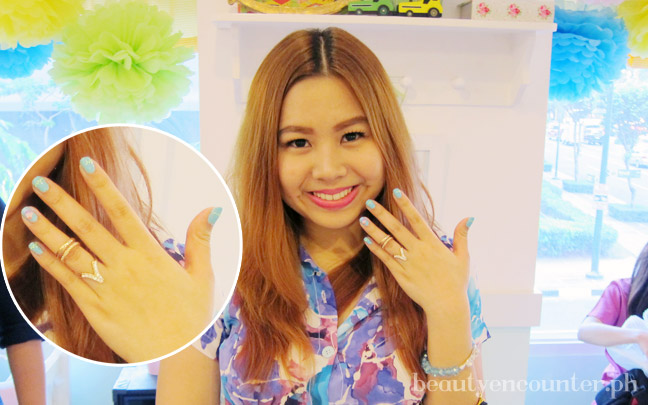 Fashion blogger Cristina Decena of Struttingonsunshine wears her own shade too.