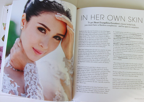 An interview with Albert Kurniawan, Heart Evangelista-Escudero's makeup artist on what he did for her wedding. She went foundation free!