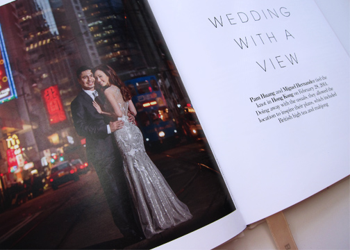 One of our real brides featured is Pam Huang and her wedding to Miguel Hernandez's at Hong Kong. Her Amir Sali gown and veil is gorgeous!