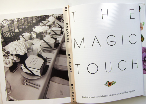 The Magic Touch is the chapter dedicated to the best wedding suppliers