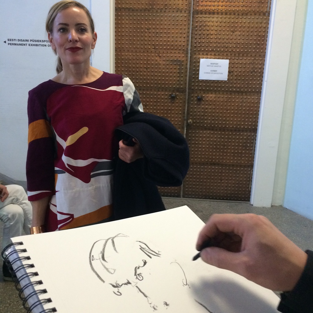 Drawing fashion illustrator Stina Persson's portrait