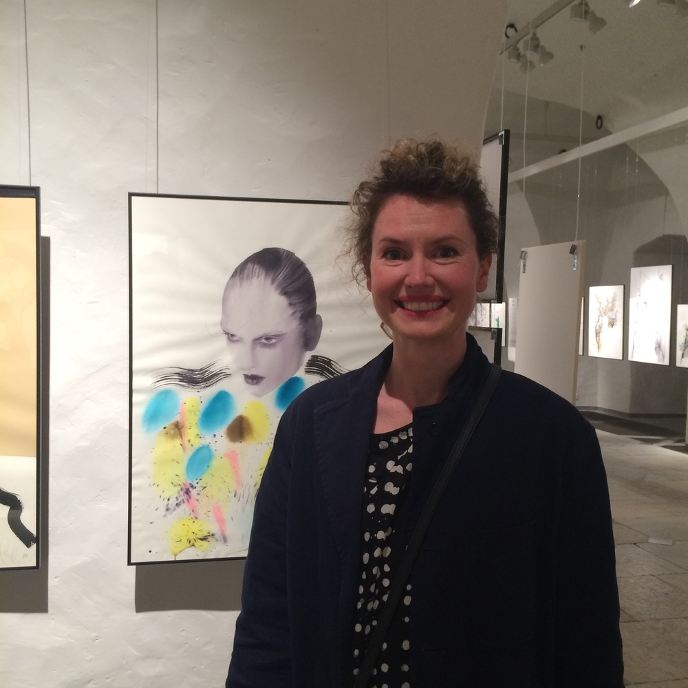 Cecilia Carlstedt and one of her pieces that she created especially for the show