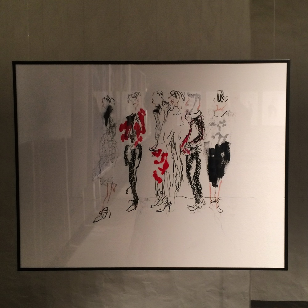 An original live drawing I made of the backstage scene at Misha Nonoo fall/winter 2015-2016 show in New York