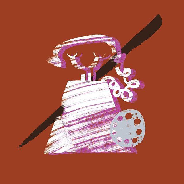 Where's Debbie Harry when you need her? // ☎️☎️☎️ • • • • • #art #artist #illustrator #illustration #warmup #sketch #kentuckyartist #louisvilleartist #doodle #create #creative #makeart #color #colorblock #illustrationdaily #design #print #printmaking #digital #digitalart #photoshop #kentucky #louisville #graphic #graphicart  #gouache #painting #phone #callme #eyeballgirl