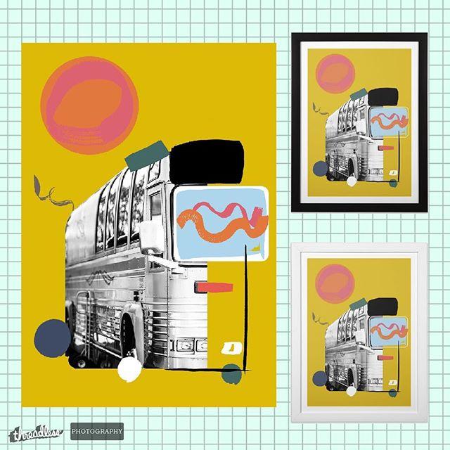 "New prints, pt 2. Photo taken in the greatest state in the union #kentucky ♥️♥️♥️ Link in bio, hit ""shop"", live that EGC life 👌 • • • • • #poster #print #artprint #kentuckykicksass #photography #kentuckyartist #louisvilleartist #graphic #artprint #threadless #shop #gouache #digitalart #vannin #eyeballgirl"