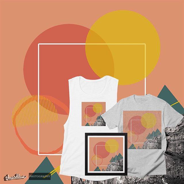 "New prints up! Link in bio, hit ""shop"", live that EGC life 👌 • • • • • #art #artprint #mountain #photography #threadless #graphic #tshirt #sunrise #sunset #illustration #louisvilleartist #gardenofthegods #colorado #eyeballgirl"