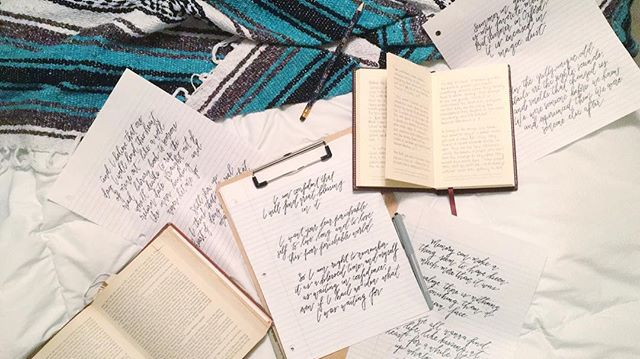 The written word. I love it! I think why I enjoy calligraphy so much is because it allows me to turn words into art, accentuating their beauty. I'm working on some fun social graphics to share my favorite quotes from books I'm reading and I can't wait to share them with you. What are some of your favorite quotes? Any you want to see me letter?  #calligraphy #moderncalligraphy #books #nerd #litmajor #paperandpen
